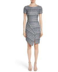 St. John | Metallic Jacquard Dress | Lyst