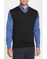 Cutter & Buck - 'douglas' Merino Wool Blend V-neck Vest - Lyst