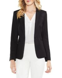 Vince Camuto   Lace-up Back Double Weave Blazer   Lyst