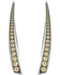 Lagos - Signature Caviar Curved Linear Earrings - Lyst