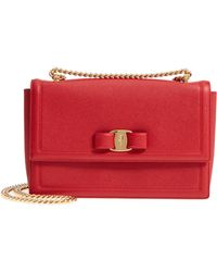 Ferragamo - Ginny Medium Leather Shoulder Bag - Lyst