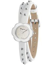 Ferragamo - Fiore Leather Strap Watch - Lyst