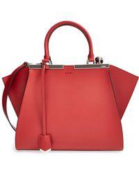 Fendi - '3jours' Leather Shopper - Lyst