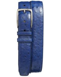 Mezlan - Ostrich Leather Belt - Lyst