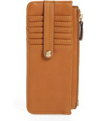 Sole Society - Tz Faux Leather Card Case - Lyst