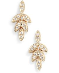 Dana Rebecca - Dana Rebecca Lori Paige Diamond Leaf Stud Earrings - Lyst