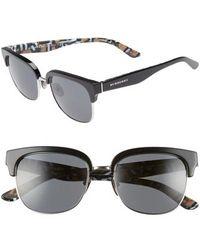994d2d5e4a2 Lyst - Burberry Be1257 1007 Rectangle Plastic Eyeglasses in Black