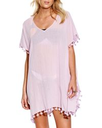 0828e3def8751 Ralph Lauren Blue Label Playa Gauze Blake Cover Up Pullover in White ...