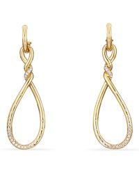 David Yurman - Continuance Large Drop Earrings In 18k Gold - Lyst