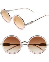921a4cf9fb623 Wildfox - Ryder Zero 49mm Flat Round Sunglasses - Glitz - Lyst