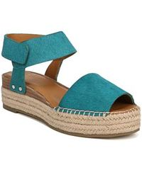 Sarto - Oak Genuine Calf Hair Platform Wedge Espadrille - Lyst