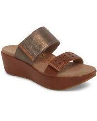 Aetrex | Mallory Wedge Slide Sandal | Lyst