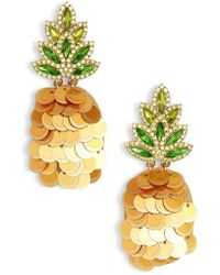 Kate Spade - By The Pool Pineapple Drop Earrings - Lyst