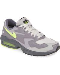 Nike Gray Velvet Air Max 90 Lx Sneakers, Grey, Uk 6.5 for men