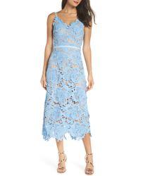 Jarlo - Jayla 3d Lace Tea Length Gown - Lyst