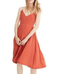 Madewell - Fern Silk Faux Wrap Dress - Lyst