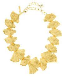 Oscar de la Renta - Ginko Leaf Necklace - Lyst