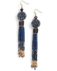 Nakamol - Beaded Tassel Earrings - Lyst