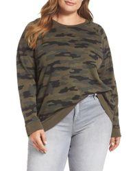 Lucky Brand - Camo Sweatshirt - Lyst