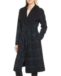Mackage - Double Face Wool Leather Belted Coat - Lyst