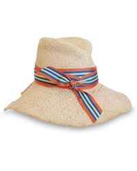 Lola Hats - First Aid Striped Band Straw Hat - Lyst d838540d1ba1