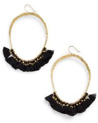 Serefina - Tassel Hoop Earrings - Lyst