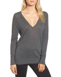 James Perse - Deep V-neck Sweater - Lyst