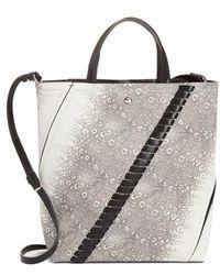 Proenza Schouler - Mini Hex Whipstitch Lizard & Leather Bucket Bag - - Lyst