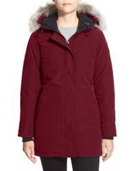 Canada Goose | Victoria Down Parka With Genuine Coyote Fur Trim | Lyst