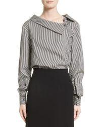 Altuzarra - Asymmetrical Pinstripe Shirt - Lyst