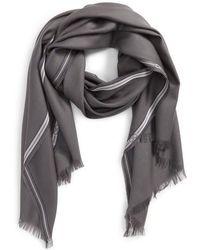 Ferragamo - Wool & Silk Fringed Scarf - Lyst