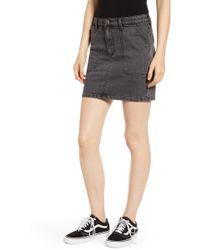 Wrangler - Denim Utility Miniskirt - Lyst