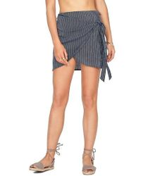 Amuse Society - Spinner Wrap Front Skirt - Lyst