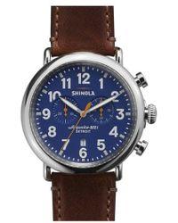 Shinola - The Runwell Chrono Leather Strap Watch - Lyst