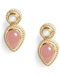Anna Beck - Guava Quartz & Moonstone Stud Earrings - Lyst