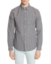 A.P.C. - Victor Check Sport Shirt - Lyst