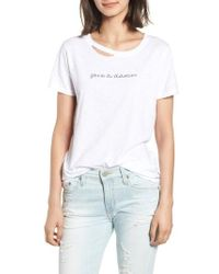 n:PHILANTHROPY - Harlow Give A Damn Distressed Tee - Lyst