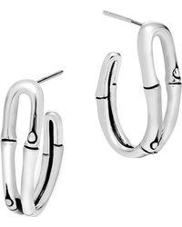 John Hardy - 'bamboo' Small Hoop Earrings - Lyst