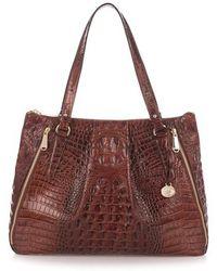 Brahmin | Melbourne - Adina Croc Embossed Leather Satchel | Lyst