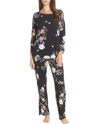 Flora Nikrooz - Abby Floral-knit Pajama Set - Lyst