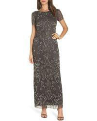 Pisarro Nights - Embellished Mesh Evening Dress - Lyst