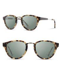 Shwood - 'ainsworth' 49mm Polarized Sunglasses - Havana/ Silver/ G15 - Lyst