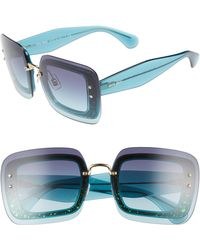 fc60e8062af Miu Miu - 67mm Square Sunglasses - Turquoise Gradient - Lyst