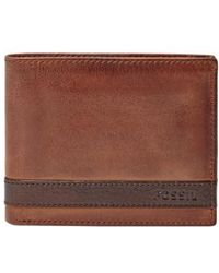 Fossil - 'quinn' Leather Bifold Wallet - Lyst