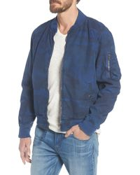 86f913729 G-Star RAW Attacc Cotton Bomber Jacket in White for Men - Lyst
