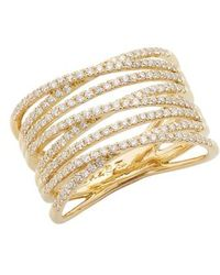 Bony Levy - 'liora' Eight Row Diamond Ring (nordstrom Exclusive) - Lyst
