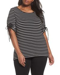 Vince Camuto - Tie Sleeve Top - Lyst