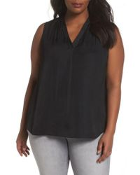 Vince Camuto - V-neck Rumple Blouse - Lyst