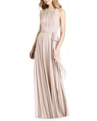 Jenny Packham - Beaded Strap Chiffon Gown - Lyst