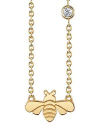 Shy By Sydney Evan | Bee Pendant Necklace | Lyst